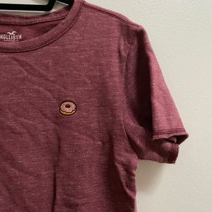 Hollister Men's Embroidered Donut Tee
